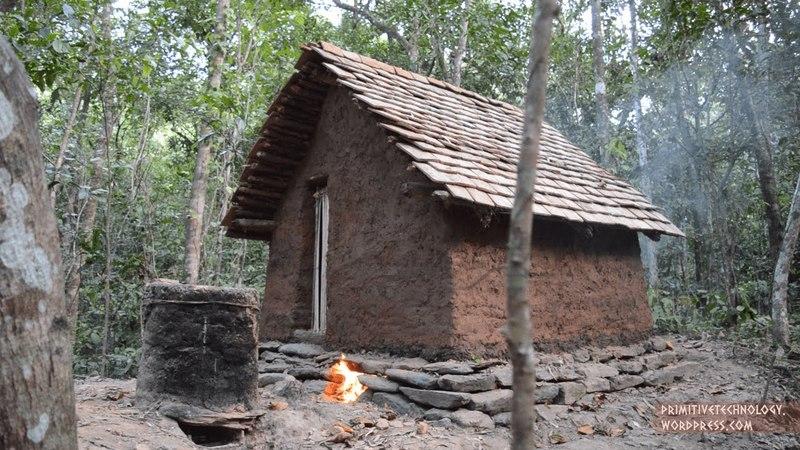 Primitive Technology Tiled Roof Hut primitive technology tiled roof hut