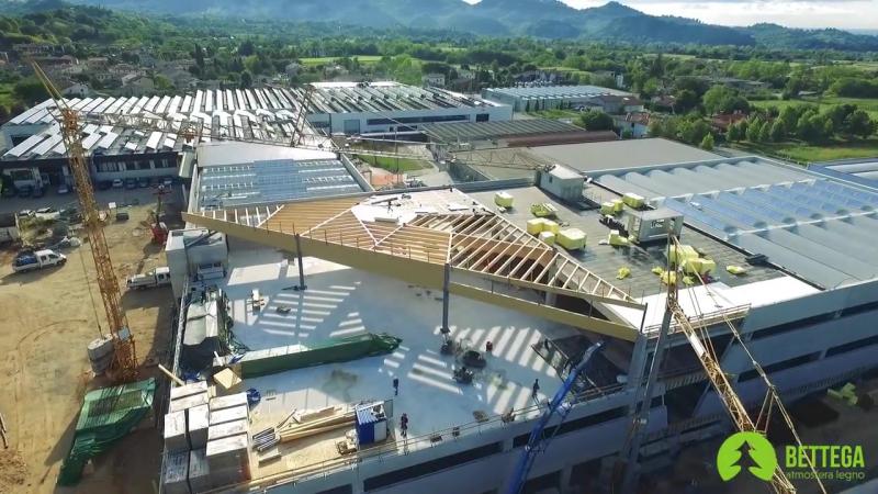 Процесс строительства нового сектора фабрики Grisport (Италия)