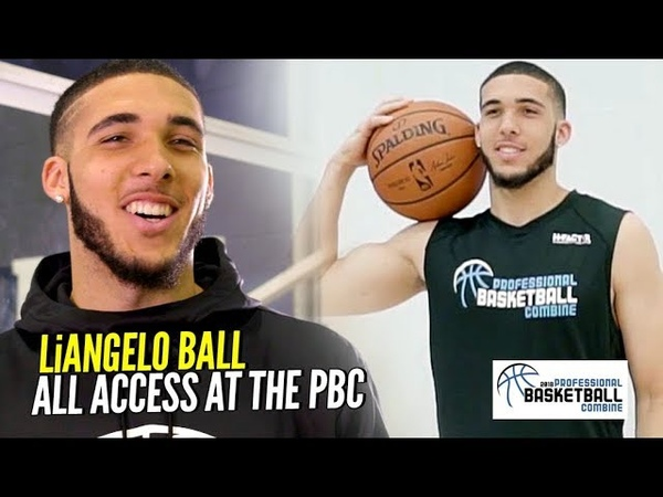 LiAngelo Ball All Access Behind The Scenes at The Pro Bball Combine!!