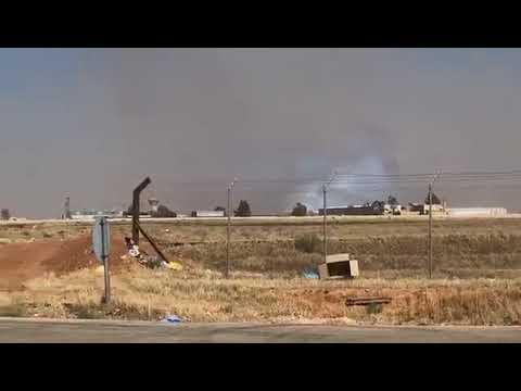 Сирийские войска на КПП Насиб у границы с Иорданией