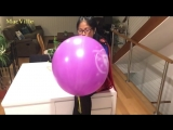 MacVille - Superman Logo Balloon - Supergirl Blowing a Purple Punch Balloon