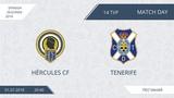 AFL18. Spain. Segunda. Day 14. Hercules CF - Tenerife