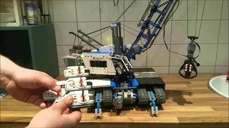 Lego Moc Seil Bagger mit 20 Motoren und Power Functions
