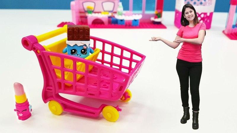 Ayşe Shopkins Mini Marketi kuruyor! Kız oyunu