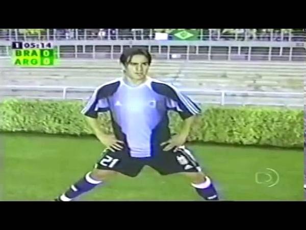 Brasil 3 x 1 Argentina [02-06-2004] Jogo Completo TV Globo