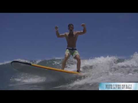 FOUR LIVES OF BALI. Kuta Beach. Surfing with Uyana Kharasova.