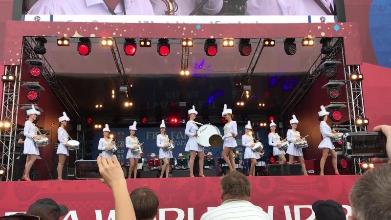 Оркестр Росгвардии выступил на закрытии фестиваля болельщиков в Калининграде