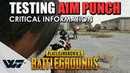 TEST: How does AIM PUNCH work? Testing ALL armor types (Critical information when armor breaks)-PUBG
