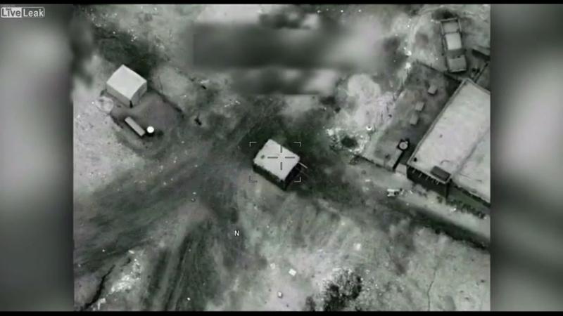 Авиаудары A-10 ВВС США по объектам Талибана в Афганистане - наркофабрика и КПП боевиков.