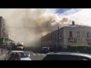 Пожар в торговом центре в Ломоносове