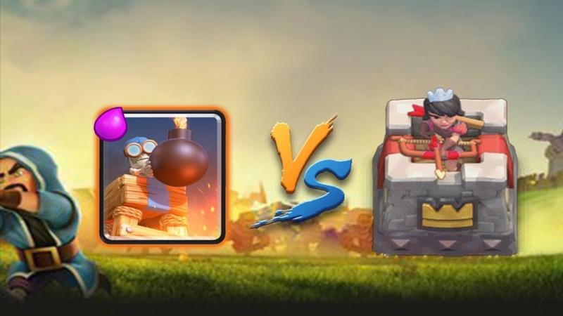 СНЕС БАШНЕЙ БОМБЁЖКОЙ БАШНЮ ПРИНЦЕССЫ!! Clash Royale Challenge 1