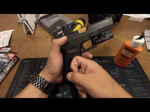 格洛克 17 红点 枪管 枪灯 开箱安装 Glock 17 (Trijicon rmr, surefire xc2, CMC barrel)老A TV