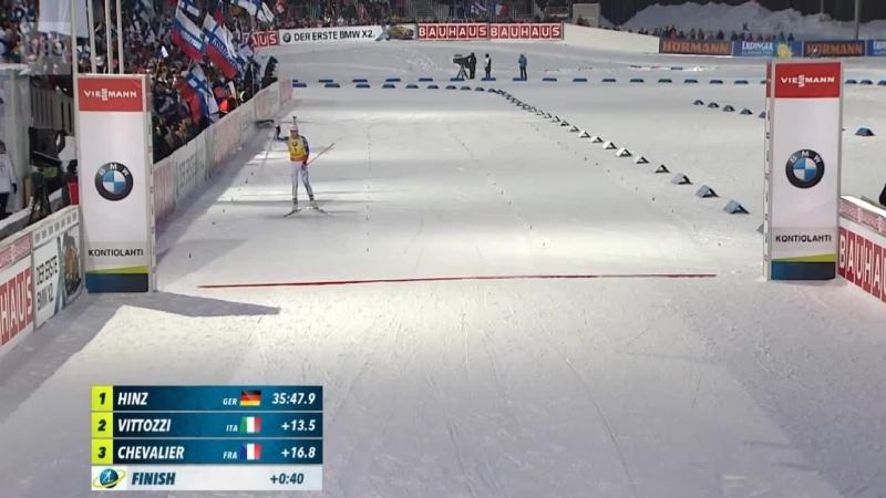 Kaisa Mäkäräinen finishes 4th in 12,5km mass start in Kontiolahti 11.03.18