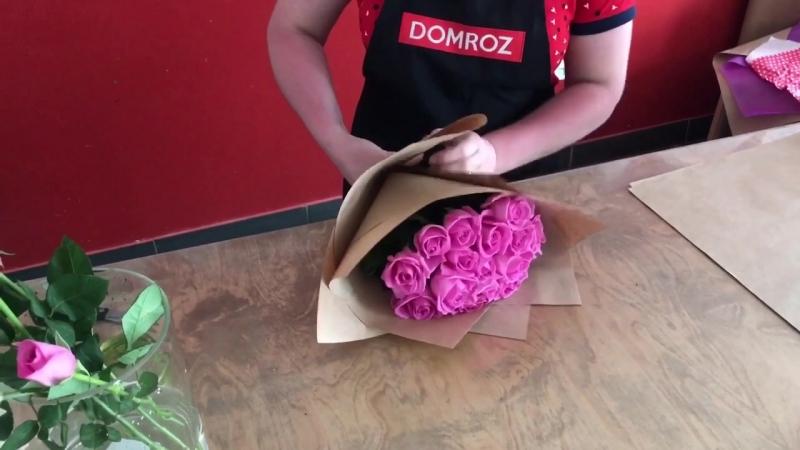 Сборка букета из роз