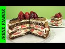 Вкусный бисквитный торт без заморочек Шоколадный ТОРТ с клубникой