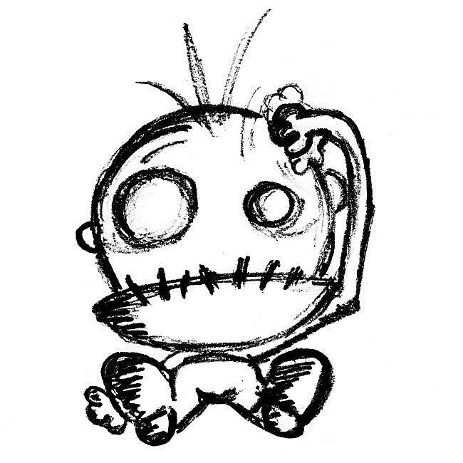 Картинка, как нарисовать смешную картинку карандашом поэтапно