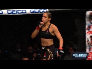 Финиш Аманды Нуньес в бою с Рондой Роузи.