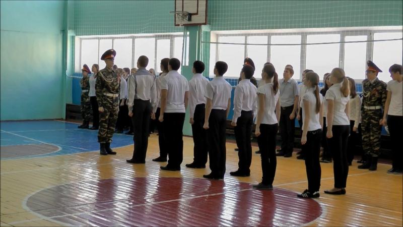 Строевой смотр к 9 маю 2014 г. школа №3 Нягань