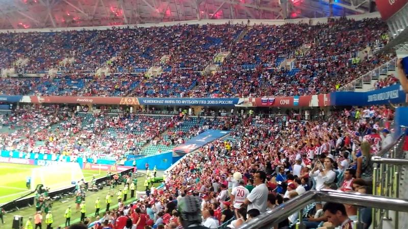 Nered feat. Zapresic Boyz Srce Vatreno (гимн хорватской сборной) на стадиона Фишт