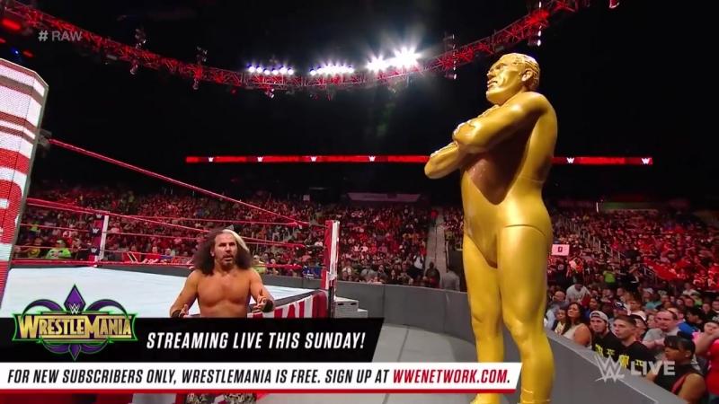 Woken Matt Hardy vs Goldust Raw April 2 2018