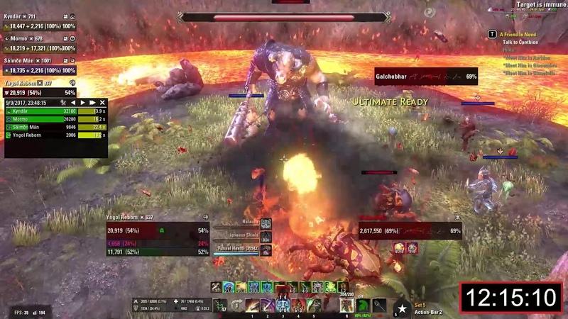 ESO Bloodroot Forge Veteran Hardmode No Death Speed Run