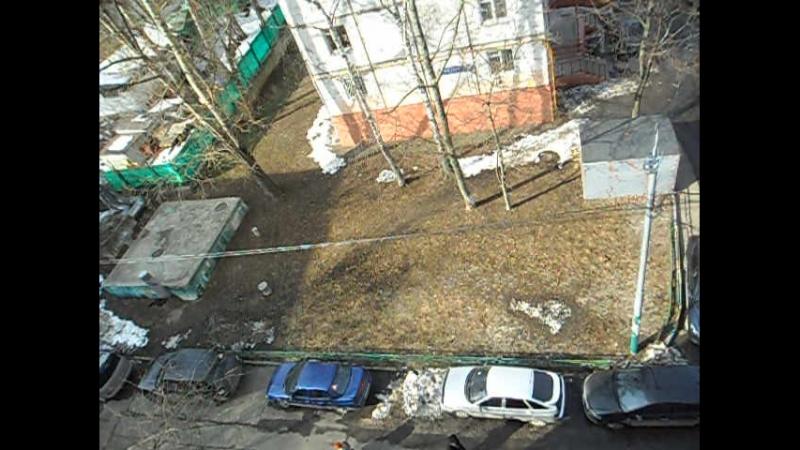 Остатки снега с реагентами 5 апреля 2018 (Москва, Измайлово)