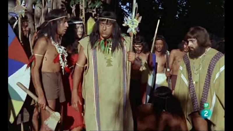 Конкистадоры Тихого океана (1963). Первый бой конкистадоров с индейцами