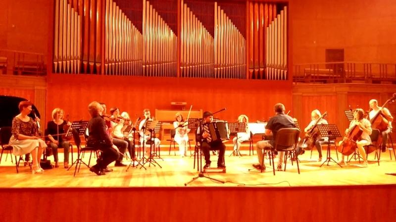 Репетиция с Камерным оркестром Игоря Лермана в Органном зале