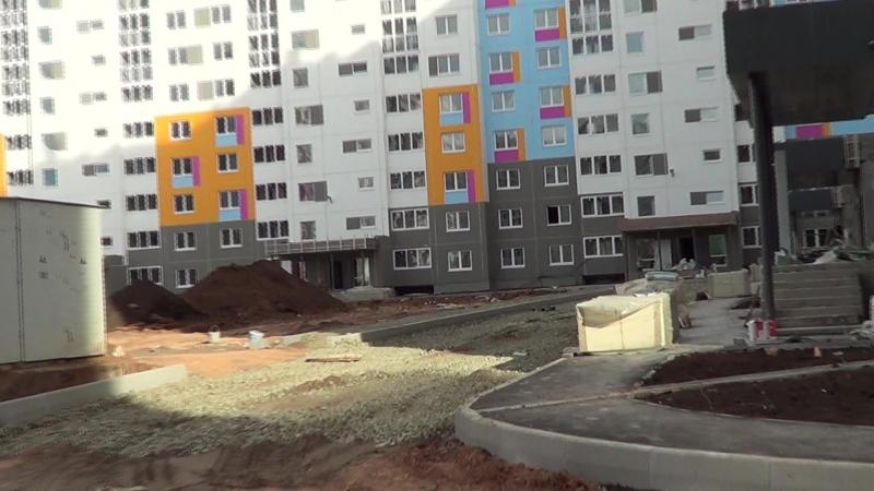 Видео съемка строительных работ ЖК Акварель Оренбург 17.06.2018 часть 5
