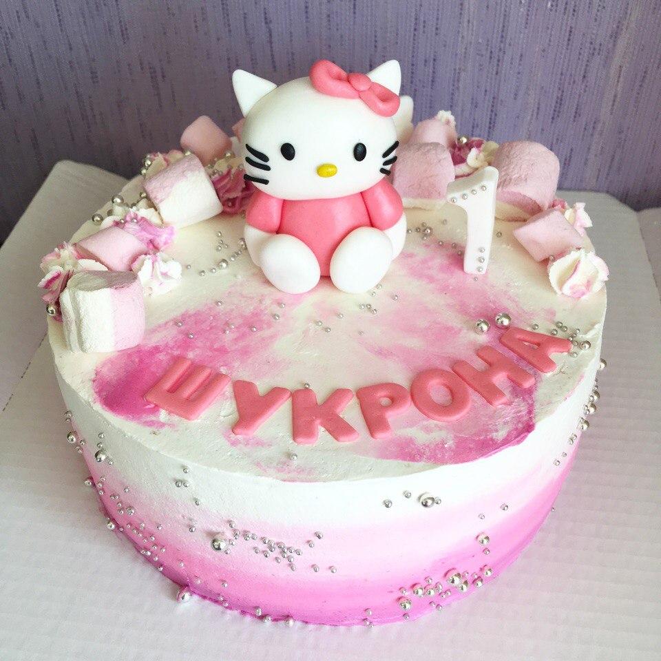 """Торт для девочки """"Хэллоу, Китти / Hello, Kitty"""" (арт. 27)"""
