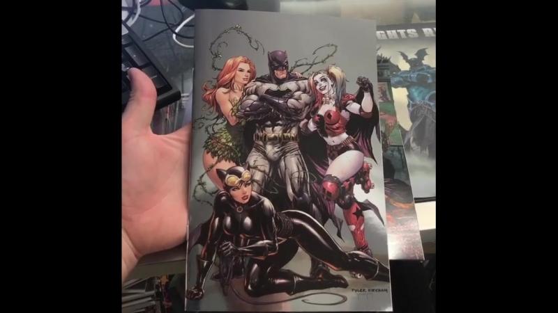 Batman Rebirth 1 and Super Sons 1 Foil Covers