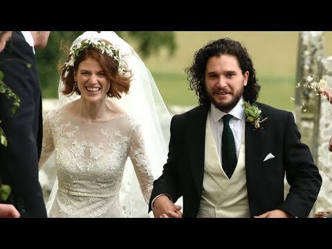 В Шотландии женились звезды Игры престолов Роуз Лесли и Кит Харингтон
