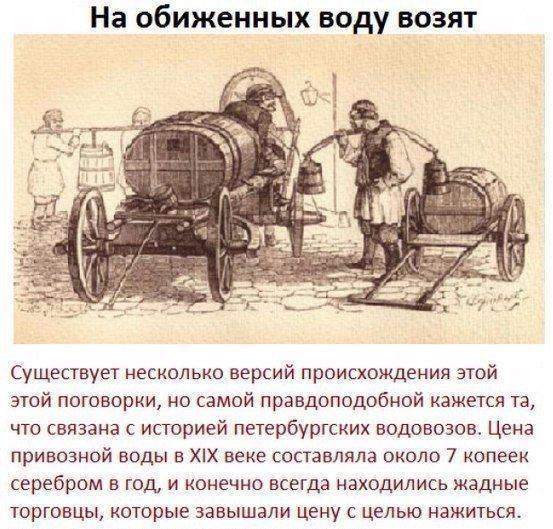 История русских пословиц и поговорок в картинках, на обиженных воду возят