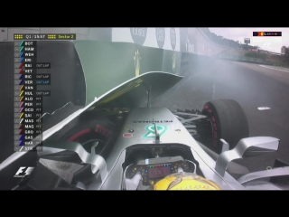 Hamilton spun out and crashed!