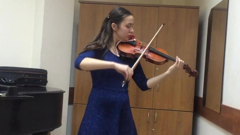 И. С. Бах. Аллегро из сонаты №3 для скрипки соло, исп. Пентегова Наталья