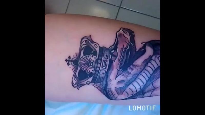 Татуировка за победу в розыгрыше для Ольги Злыденной от Ильи Колесникова