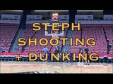 Steph Curry shooting w Durant then dunking + walkaway shot from practice in New Orleans, day b4 G3