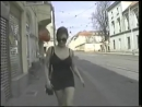 Busty girl walking with a black and tight dress - YouTube
