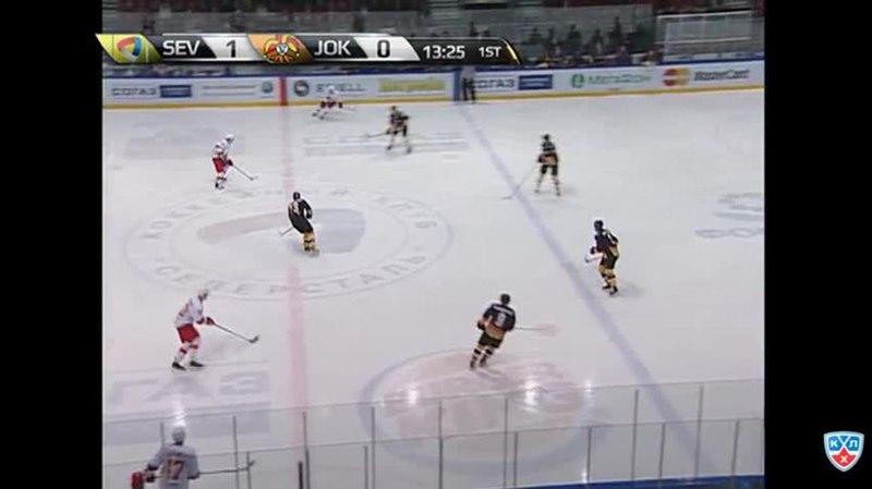 Моменты из матчей КХЛ сезона 14/15 • Гол. 1:1. Тим Кеннеди (Йокерит) восстановил равенство в счёте 27.01
