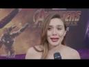 Elizabeth Olsen on Avengers Infinity War Premiere Red Carpet THR
