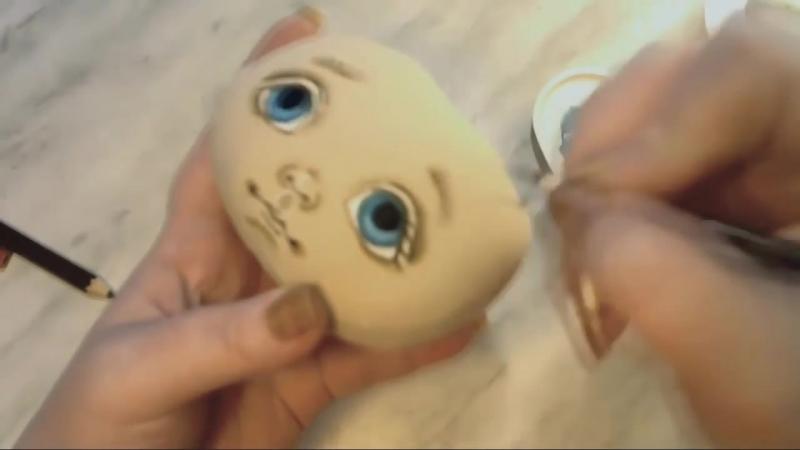 шаблон для прорисовки глаз кукле