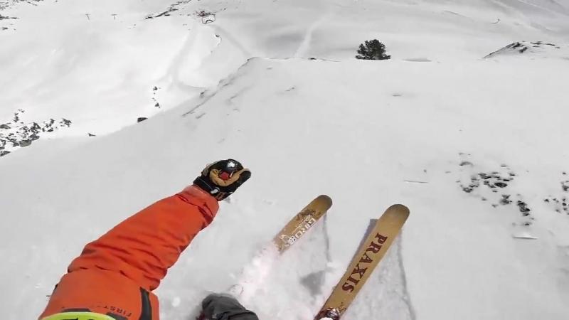 Одна из самых сумасшедших лыжных трасс
