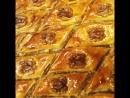 Армянская пахлава с грецкими орехами с мёдом