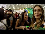 Crazy Brazil fans.Brazilian girls drink vodka.Meninas brasileiras bebem vodka.