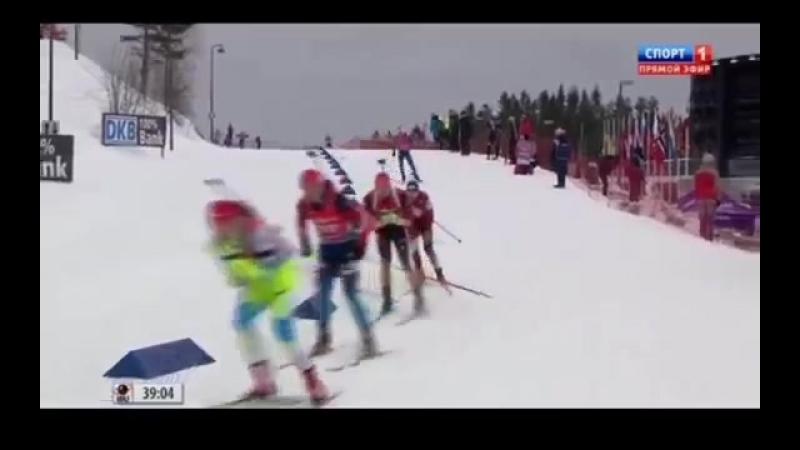 Биатлон, 8 Этап кубка мира, Холменколлен, Эстафета, Мужчины 15 02 14-15 гг.2015(1)
