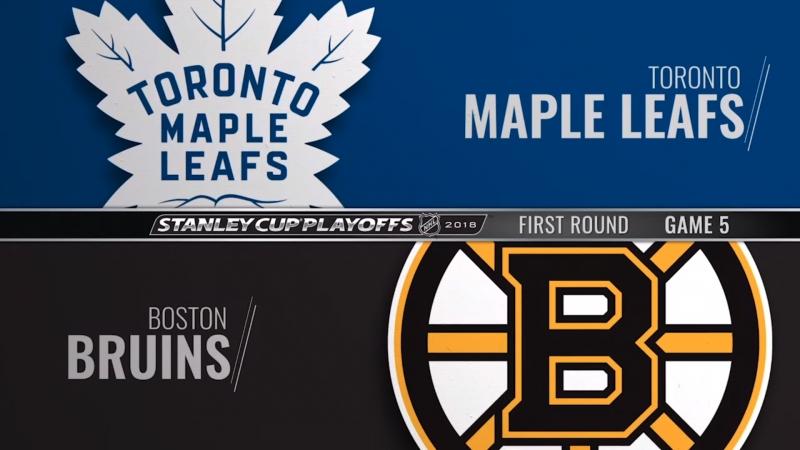 Toronto Maple Leafs vs Boston Bruins 21 04 2018 Round 1 Game 5 NHL Stanley Cup Playoffs 2018 Eurosport Gold RU