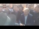 Путин в кипе с хасидами у Стены плача
