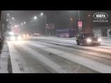 Брест занесло снегом 16.03.2018