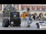 Удивительная уличная гитарная игра от Imad Fares Gipsy Kings