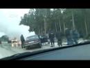 У Полевского после ДТП двое полицейских сгорели в машине